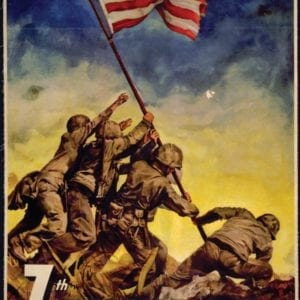 Large Nostalgic Iwo Jima Poster Reproduction
